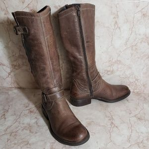 Eric Michael 36 motorcycle combat brown boots